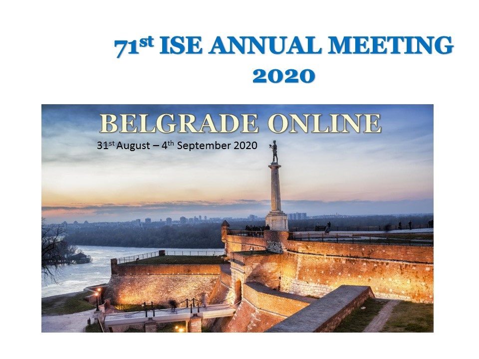 The 71st Annual ISE Meeting, Belgrade, Serbia